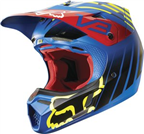 2015 FOX V3 SAVANT HELMET BLUE