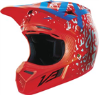 FOX V3 CAUZ RED HELMET
