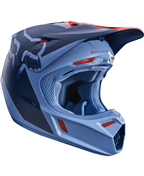 FOX V3 LIBRA HELMET ORANGE/BLUE