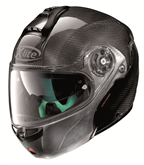 X-LITE X-1004 DYAD CARBON 003 SCRATCHED CHROME CHIN GUARD