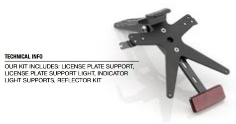 YAMAHA FZ1 RIZOMA LICENSE PLATE SUPPORT