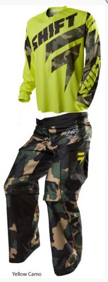 SHIFT 2015 RECON LOGO ENDURO GEAR SET YELLOW CAMO