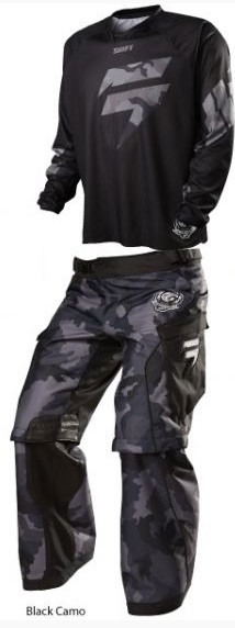 SHIFT 2015 RECON LOGO ENDURO GEAR SET BLACK CAMO