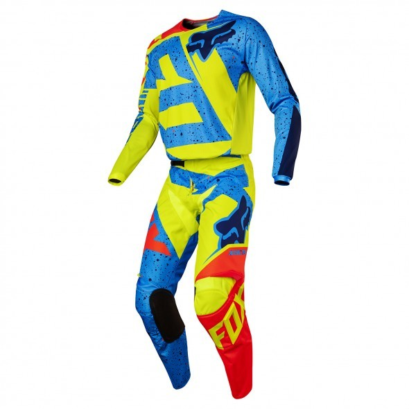 FOX YOUTH 180 NIRV GEAR SET YELLOW/BLUE