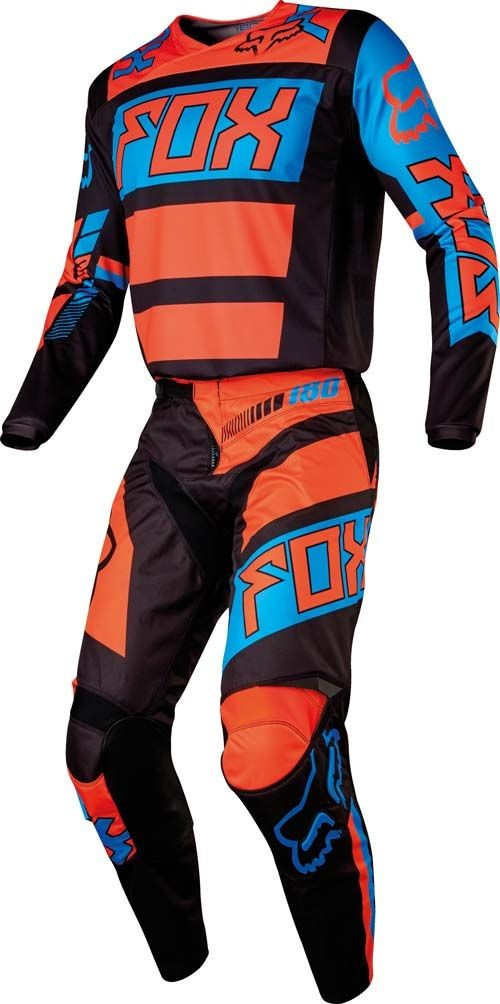 FOX YOUTH 180 FALCON GEAR SET BLACK/ORANGE