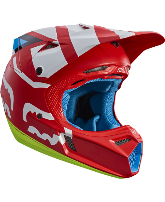 FOX V3 CREO HELMET RED