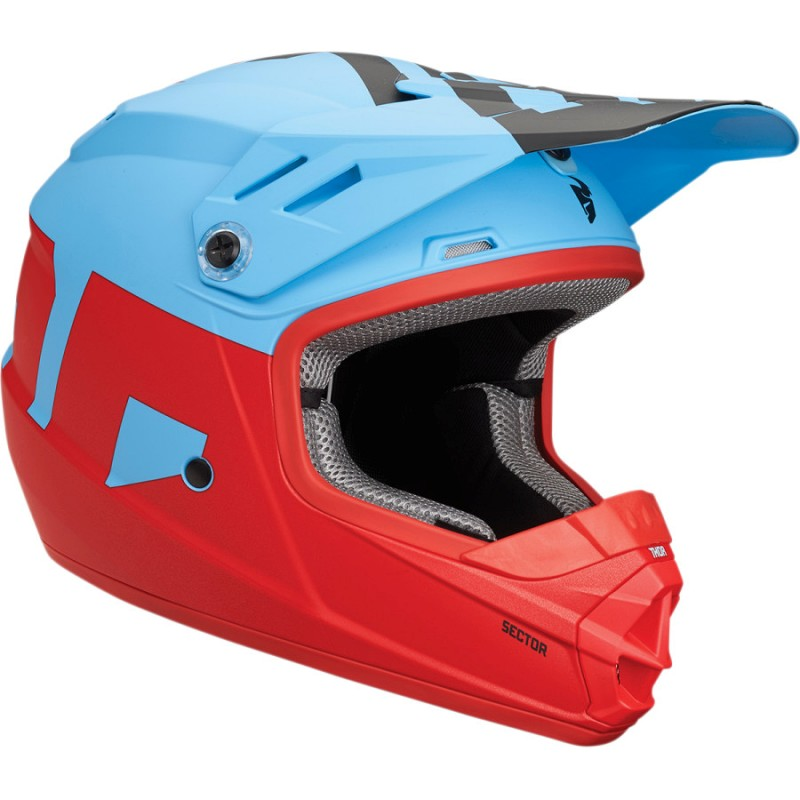 THOR YOUTH SECTOR LEVEL MATTE BLUE/RED HELMET