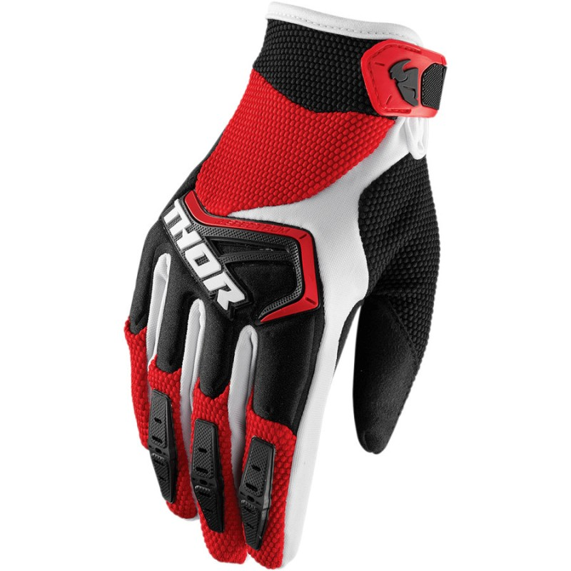 THOR SPECTRUM RED/BLACK/WHITE GLOVES
